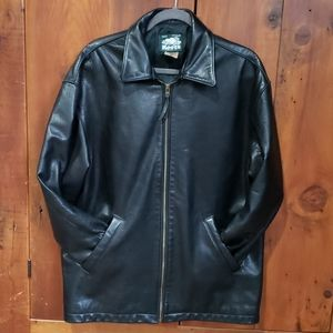 Roots Made In Canada Leather Jacket Womens Sz S/P